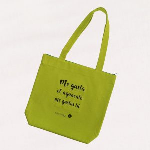 Organic cotton bag Aguacate